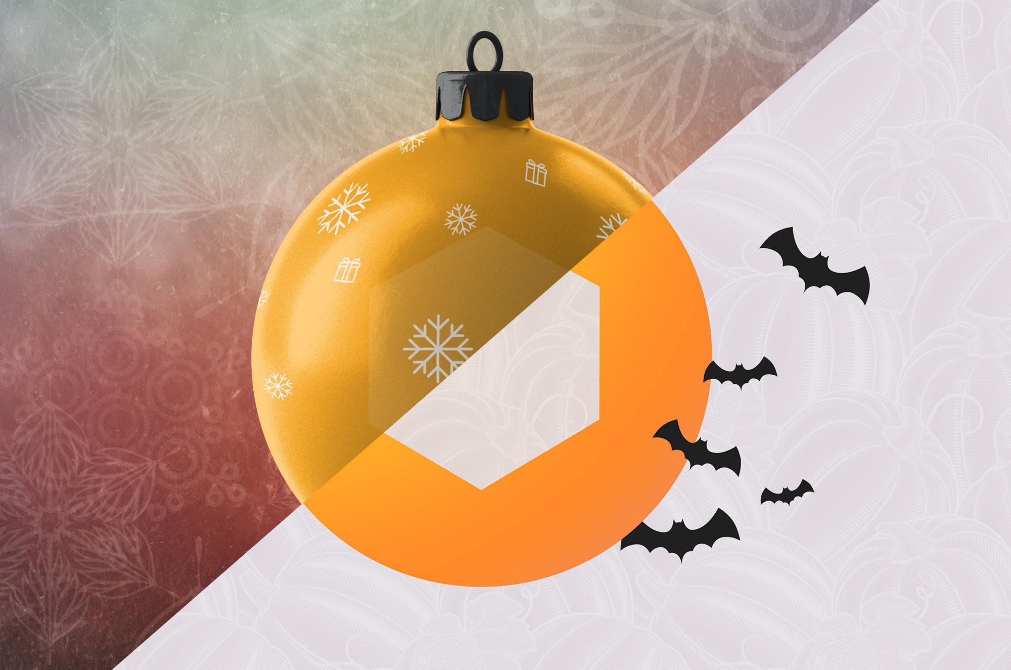 Seasonal website holiday promotion themes